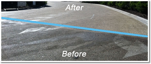 Drive before and after pressure clean